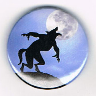 Button Badge Howl At The Moon