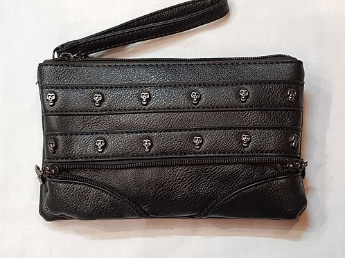 Clutch Or Shoulder Bag Small Skulls