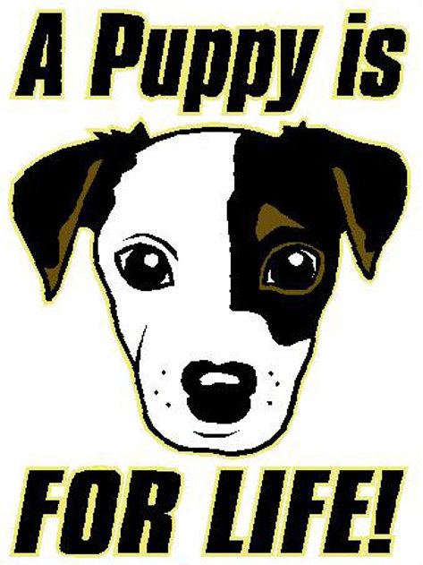 USR29  A Puppy Is For Life! Window Sticker