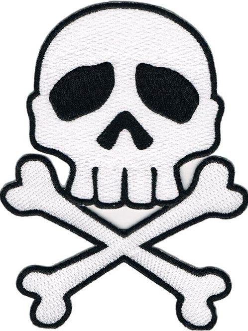 Skull & Crossbones Large Patch White