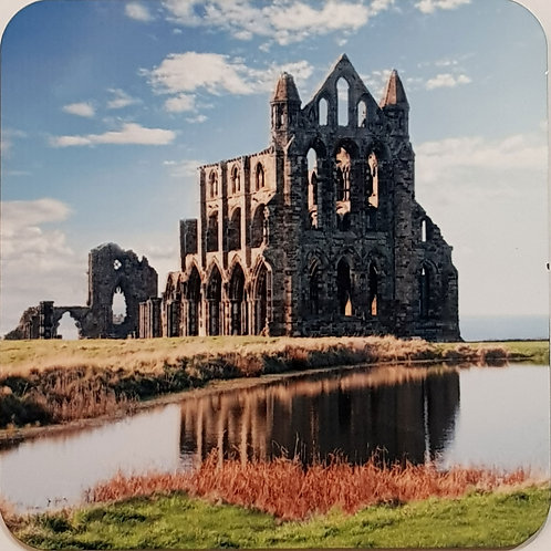 Whitby Coaster Abbey And Pond