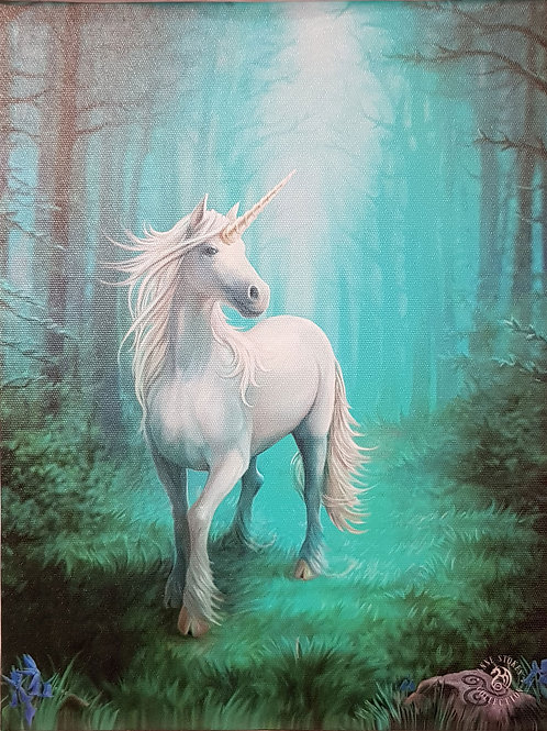 Anne Stokes Wall Plaque Forest Unicorn
