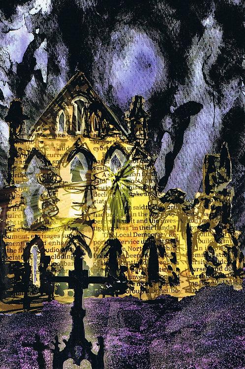 Dark Whitby Abbey Card