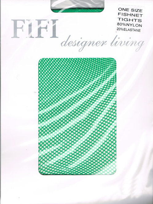 FiFi Fishnet Tights (Green)