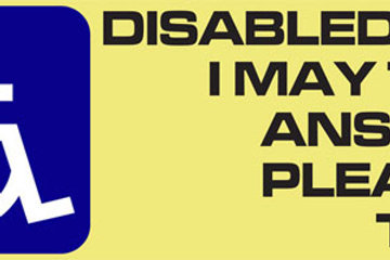 10 Disabled Person Lives Here......  Window Sticker