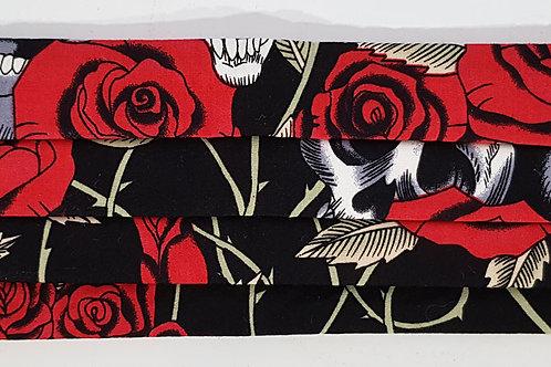 Skull Rose Folded Mask