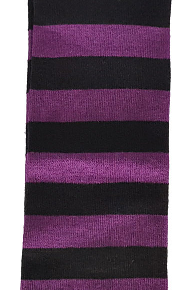 Over The Knee Socks Black And Purple