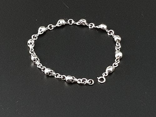 Skull Bracelet 925 Silver