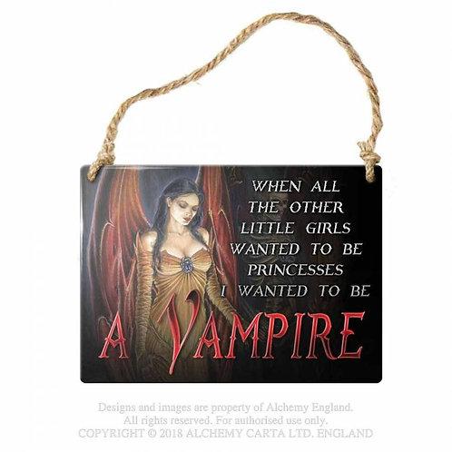 Vampire Hanging Door Sign