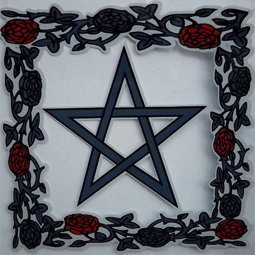 20 Pentagram and Roses Window Sticke