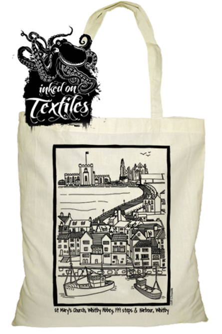 Whitby Tote Bag Abbey ,Steps,St Mary's