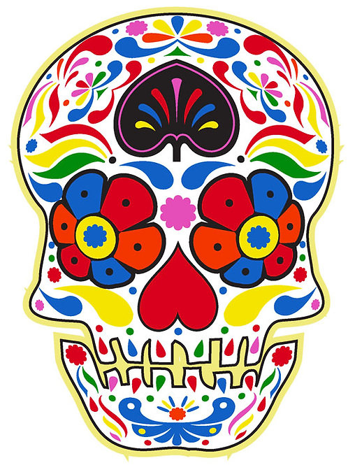 85 Sugar Skull Window Sticker