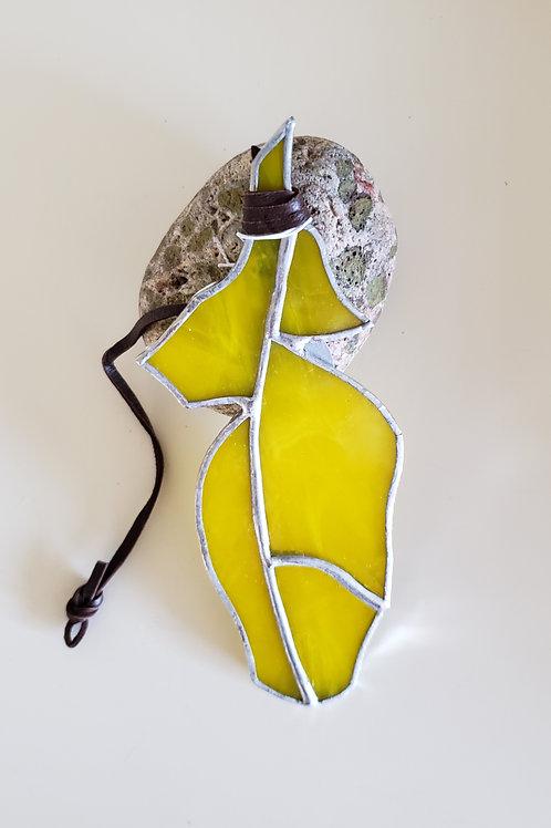 Yellow Streaky Feather