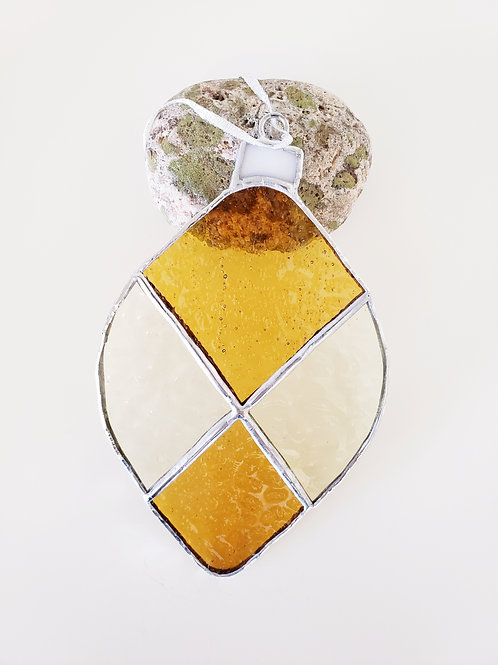 Two-toned Gold Ornament