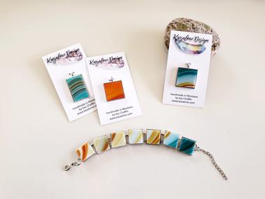 Pendants and Bracelet