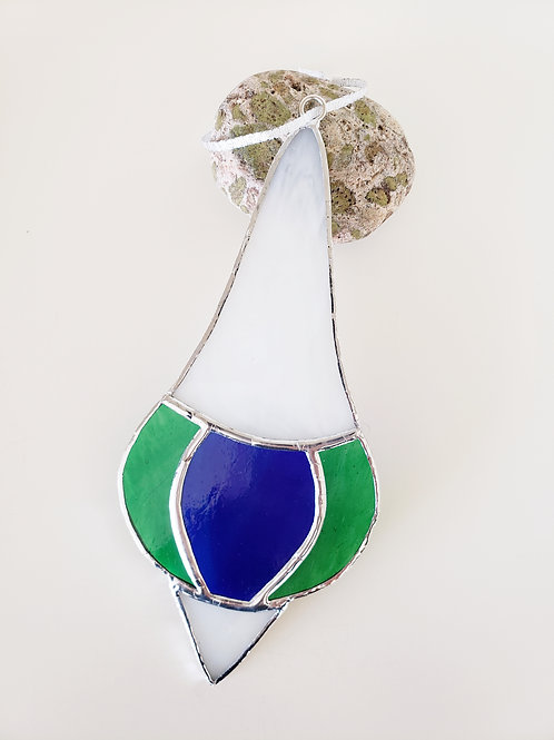 Green, Blue and White Ornament