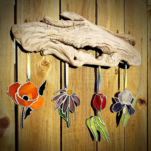 Flower Driftwood Hanging