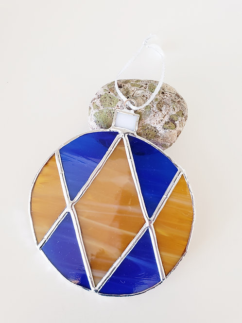 Cobalt Blue and Gold Ornament