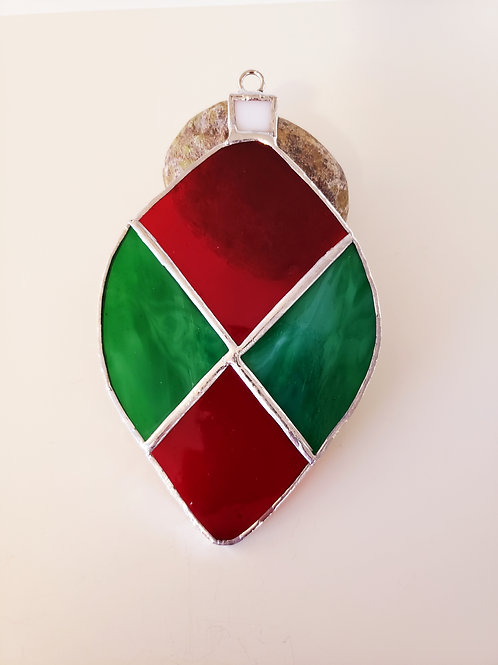 Green Streaky and Red Ornament