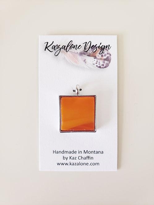 Orange Glass Pendant