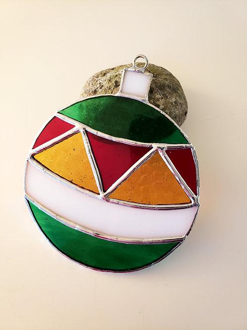 Christmas Ball Circle Ornament