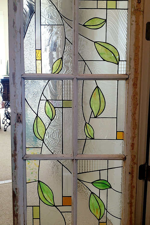 Textured Glass and Vines