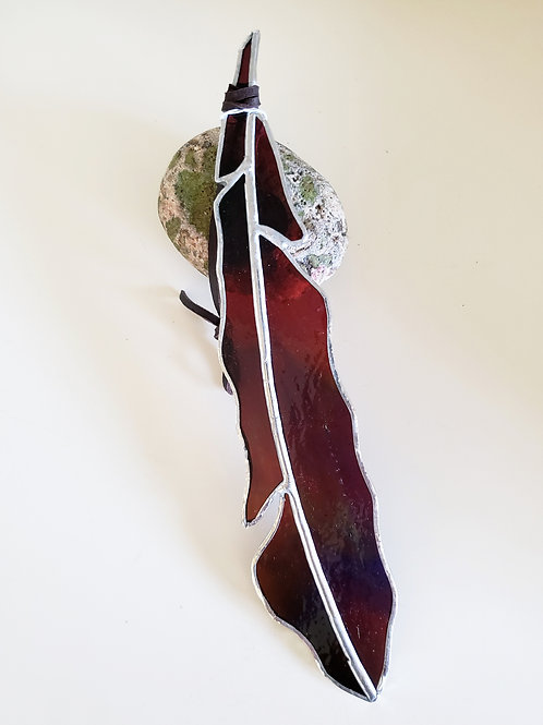 Rainbow Glass Feather