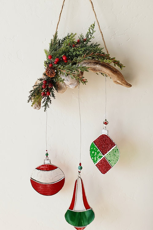 Traditional Christmas Ornament Wall Hanging