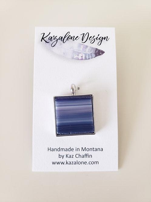Purple Stripe Glass Pendant