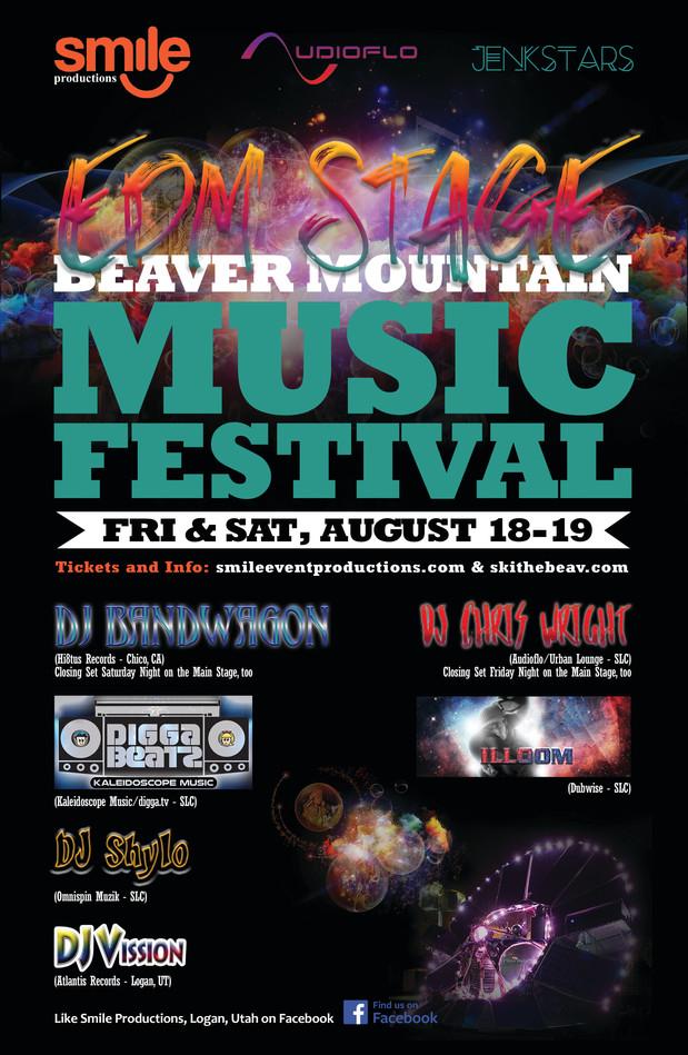 EDM Stage Festival Poster