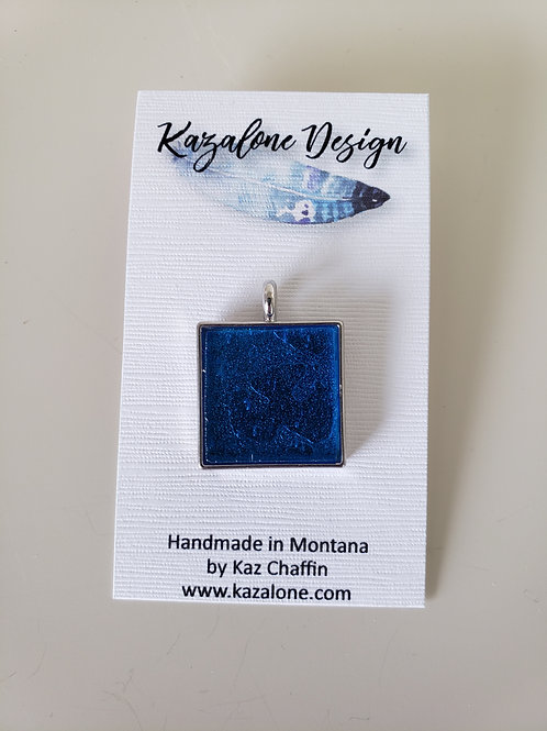 Electric Blue Glass Pendant