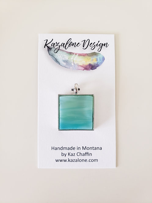 Green/Blue Glass Pendant