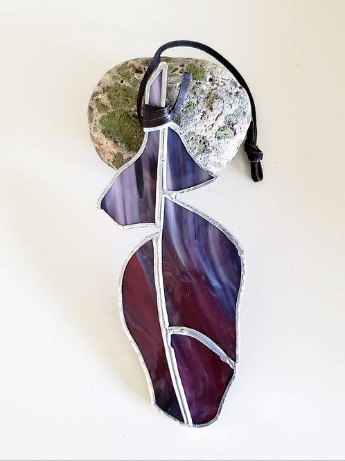 Small Purple Fuschia Feather
