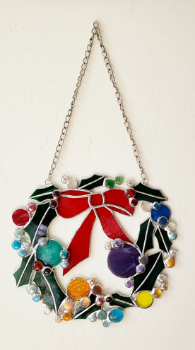 Holly Wreath Hanging