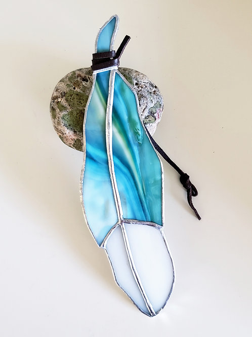 Mixed Turquoise Feather