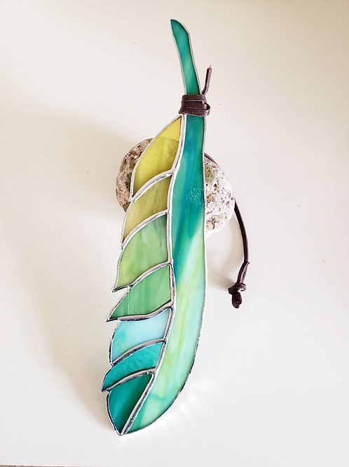Colors of Spring Glass Feather