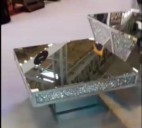 Crush Sparkle Crystal Mirrored Coffee Table monroseinteriors