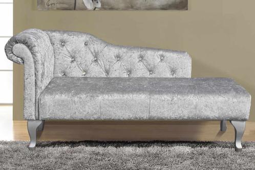 Crushed Velvet Diamante Studded Chaise Longue on velvet recliner, velvet loveseat, velvet chaise lounge, velvet headboards, velvet curtains, velvet bedding,