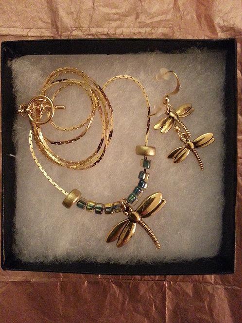 Golden Egypt Dragonfly - SOLD