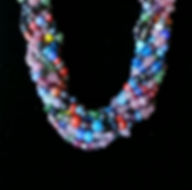 Indian Glass 8strand N&E Closeup [SOLD]