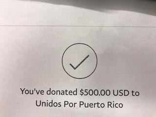 BACS raises $500 for Unidos por Puerto Rico!