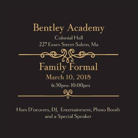 Family Formal Tonight!