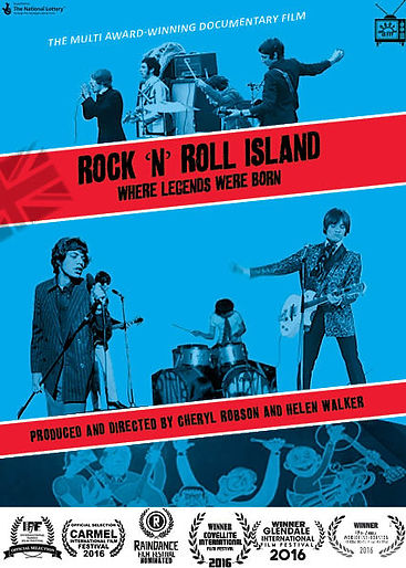 poster for the music docmentary film Rock n Roll Island