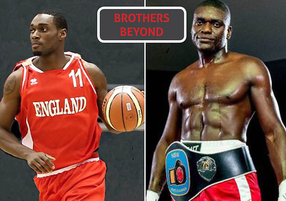 Tayo Ogedengbe, basketball champion, UK and Paul Ogedengbe, boxing champion NSW, Australia