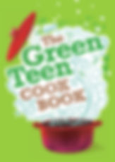 book cover for 'The Green Teen Cookbook'