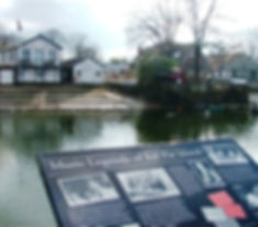View of Eel Pie Island from Twickenham riverside