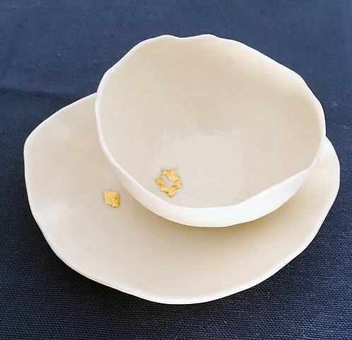 """Tasse ronde  """"Mimì""""  et son petit assiette - série """"eldorado"""""""