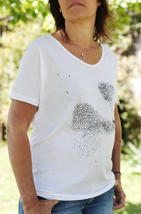 Riou atelier  - t-shirt blanc femme