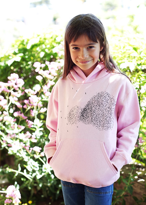Riou atelier - sweat baby rose enfants