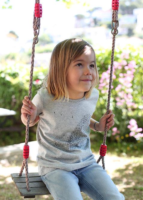 Riou atelier -t-shirt gris enfants
